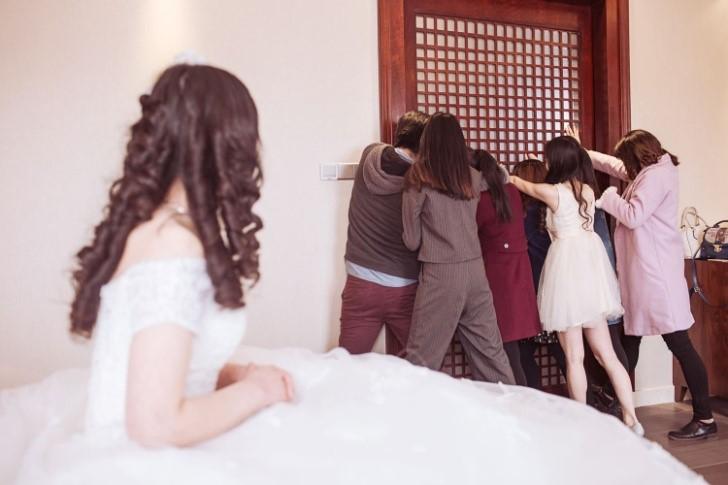 Phong tục chặn cửa trong đám cưới của người Hoa tại Sài Gòn