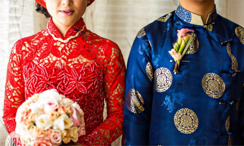 Trang phục cưới áo dài truyền thống trong đám cưới của người Huế