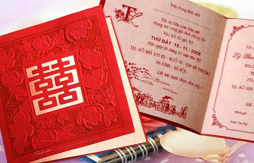 Thiệp cưới truyền thống