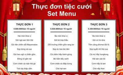 thực đơn set menu