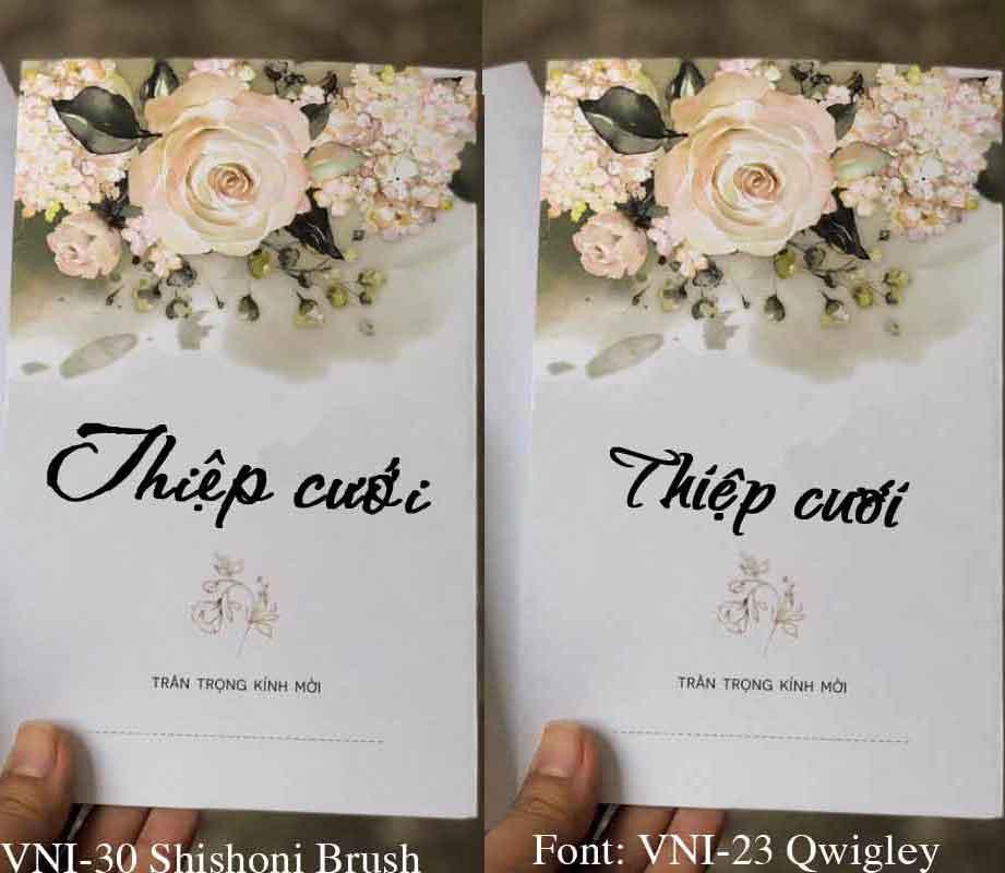 Bao thiệp cưới thường được làm từ giấy Ford