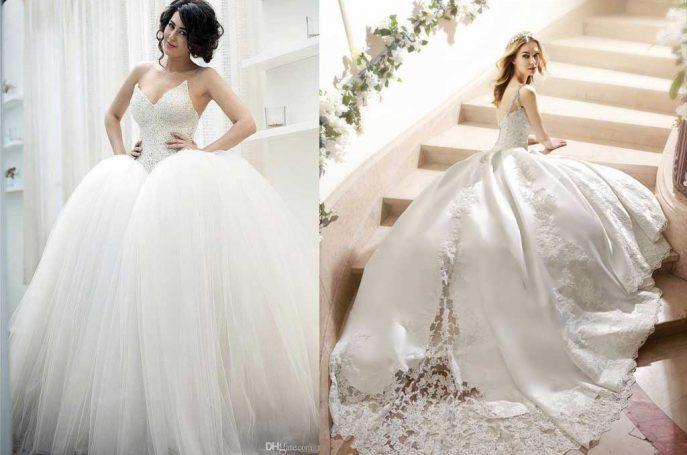 váy cưới xòe bồng