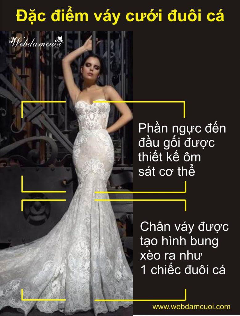 váy cưới đuôi cá là gì?