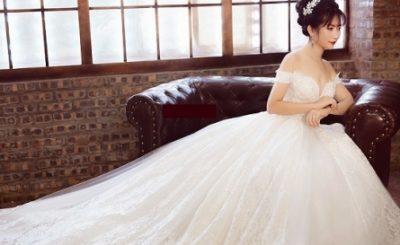 Có nên chọn áo cưới trễ vai