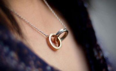 đeo nhẫn ở cổ
