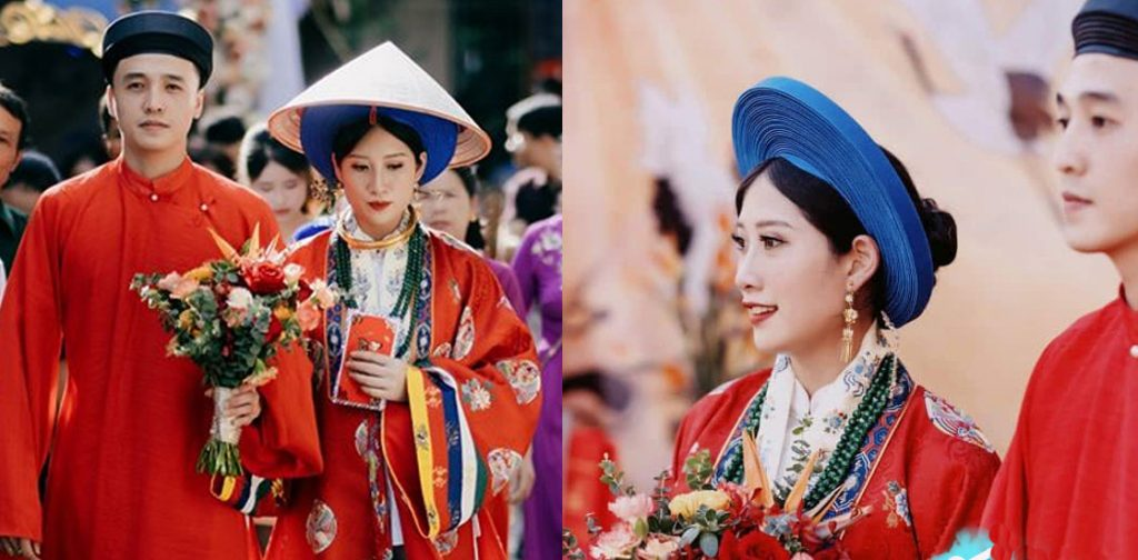 Áo Nhật Bình và ào Tấc trong lễ cưới người Huế