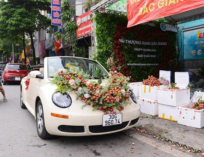 xe hoa bằng vải thiều