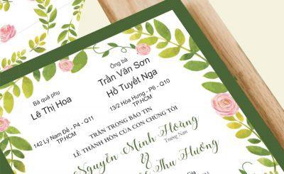 Cách viết thiệp cưới khi mất ba má